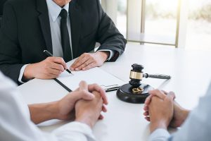 Lawyer working on a family law firm in Sydney