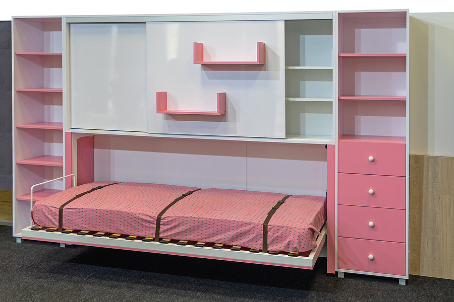 Fold up wall bed for kids
